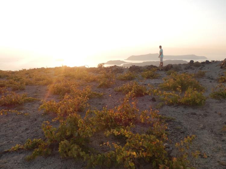 Sunset on Thira (Santorini), Greece