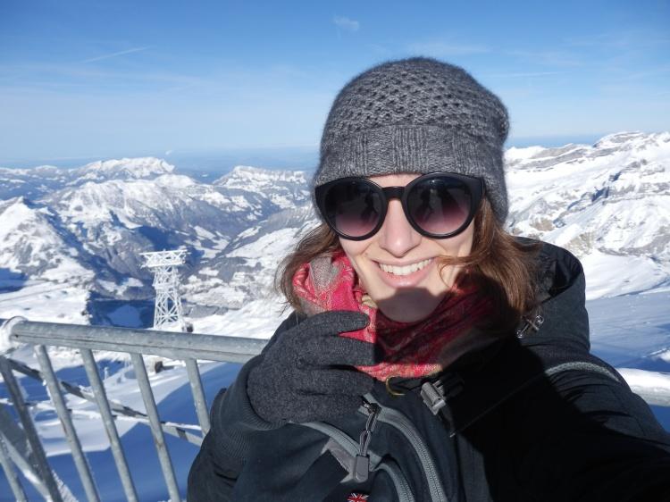 -8 degrees C atop Mt. Titlis, Switzerland