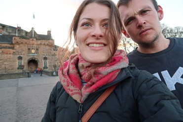 David & Nikki at Edinburgh Castle