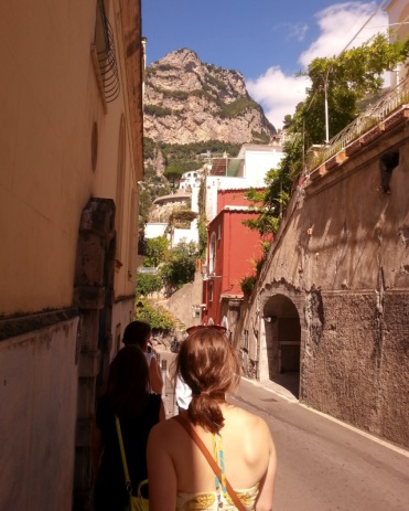 Walking in Positano