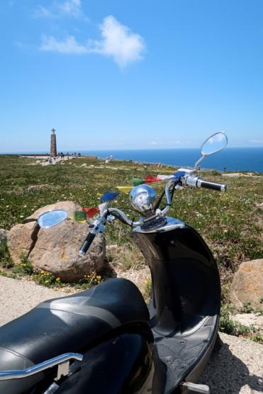 Riding off Cabo da Roca
