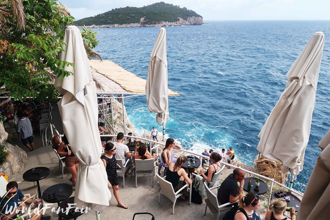 Overlooking the ocean from buza bar on the cliff