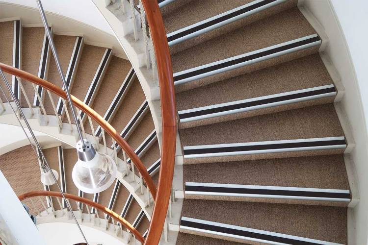 Cross section of tower staircase in Titirangi's Lopdell House