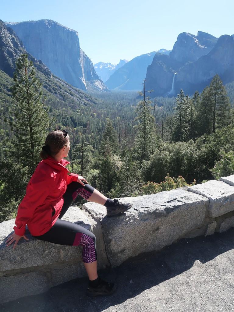 Nikki overlooking Yosemite Valley